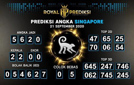 Royal Prediksi SGP Senin 21 September 2020