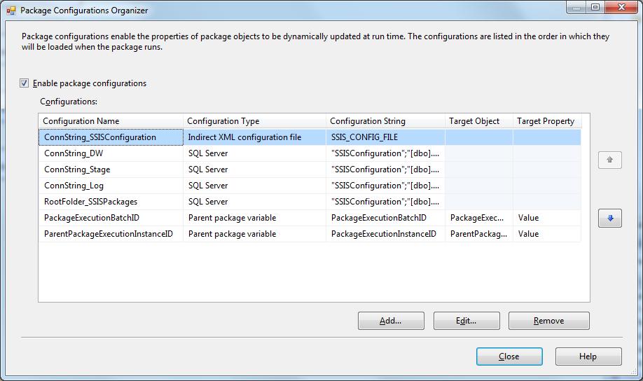 SQL Server SELECT: SSIS Configuration File ( dtsconfig