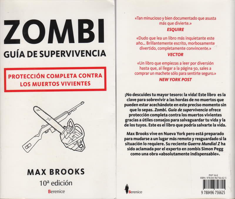 Resumen y sinópsis de Guía de supervivencia zombie de Max Brooks