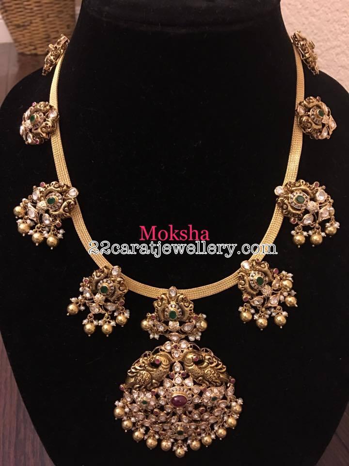 Antique Pachi Work Choker Jewellery Designs