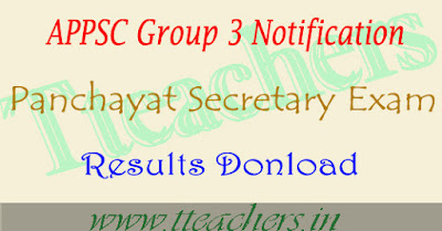 AP Group 3 Results 2017 date appsc panchayat secretary posts result