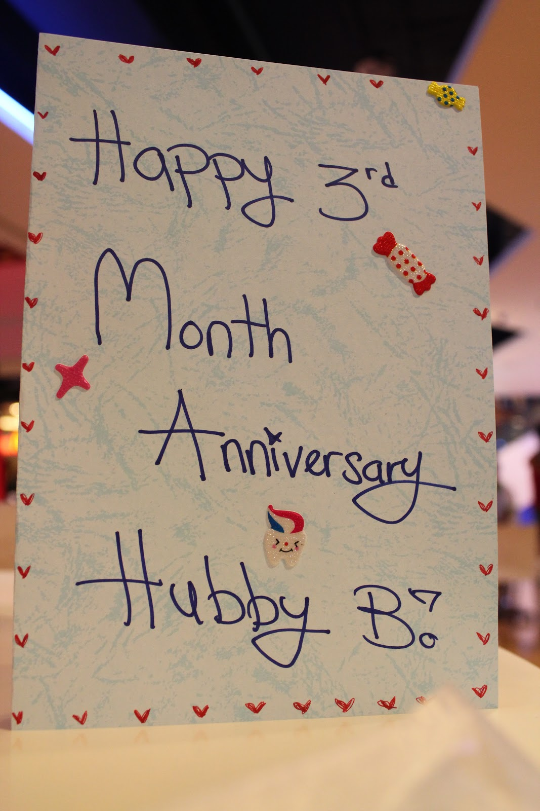 happy one month anniversary letter with hubby 3rd month anniversary celebration 1998