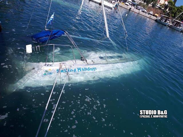 Επιχείρηση ανέλκυσης σκαφών από το λιμάνι της Επιδαύρου