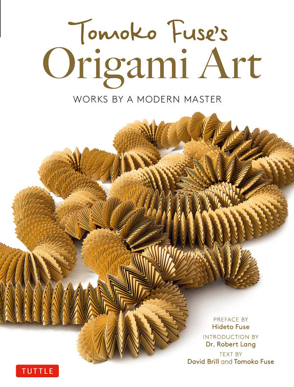 Origami Art book cover features densely folded snake-effect paper chain