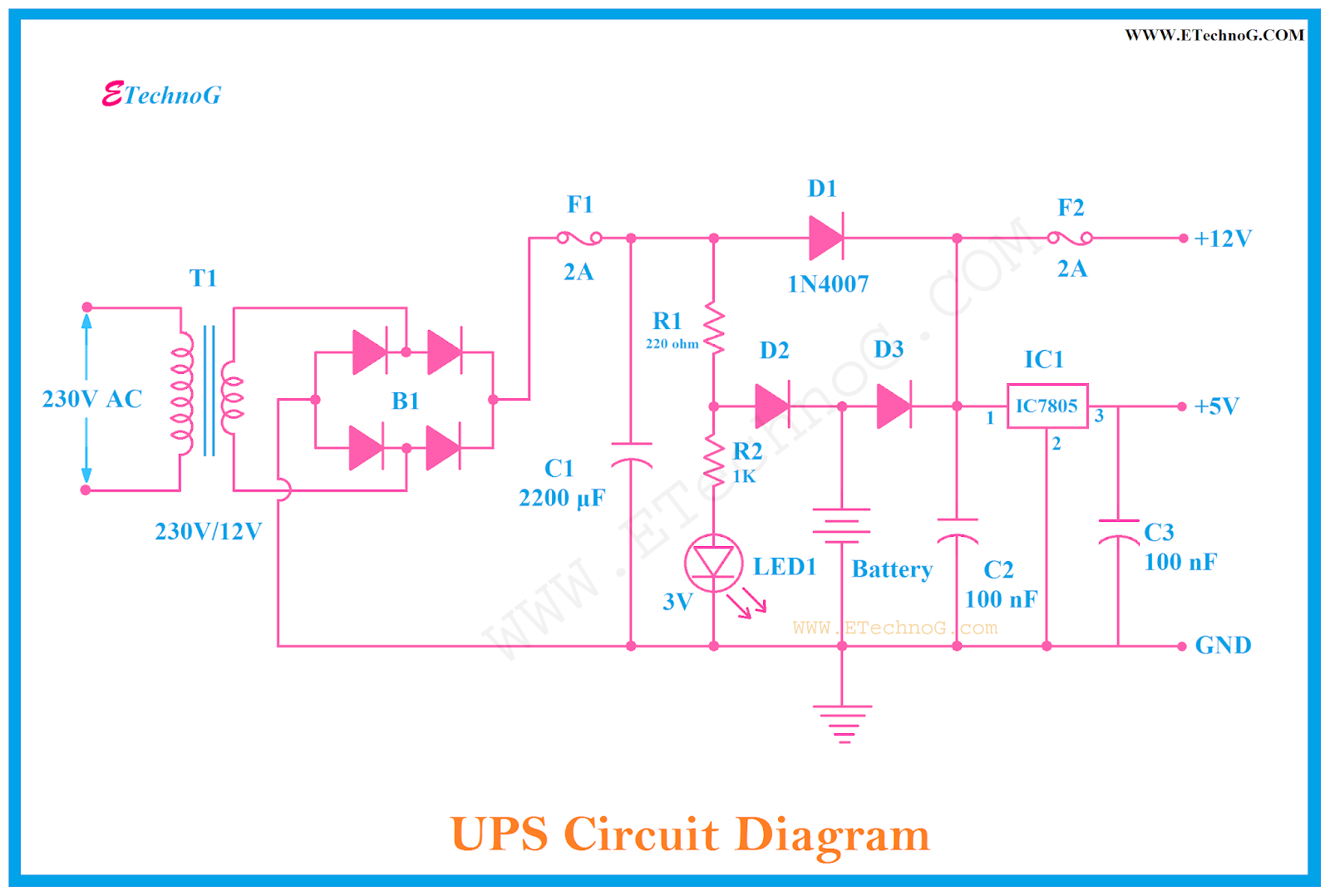 hight resolution of circuit diagram of ups ups circuit diagram for home made