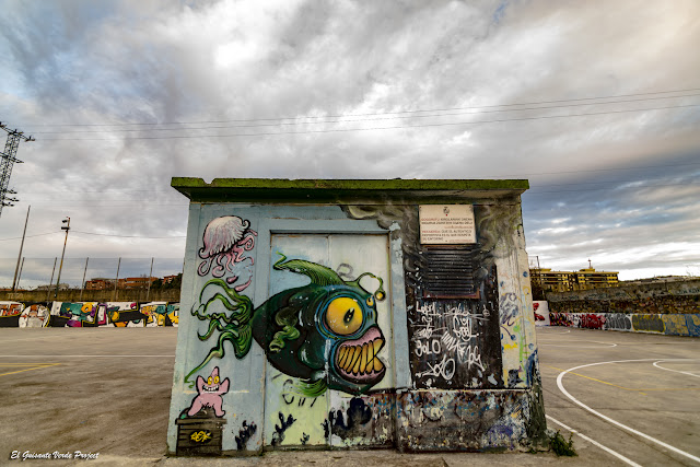 Mural Caseta Aire en Zorrozaurre - Bilbao, por El Guisante Verde Project