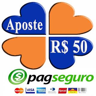 Aposte R$ 50 - PagSeguro