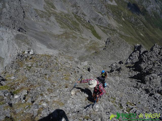 Ruta Peña Ubiña por la Arista Norte: tramo intermedio
