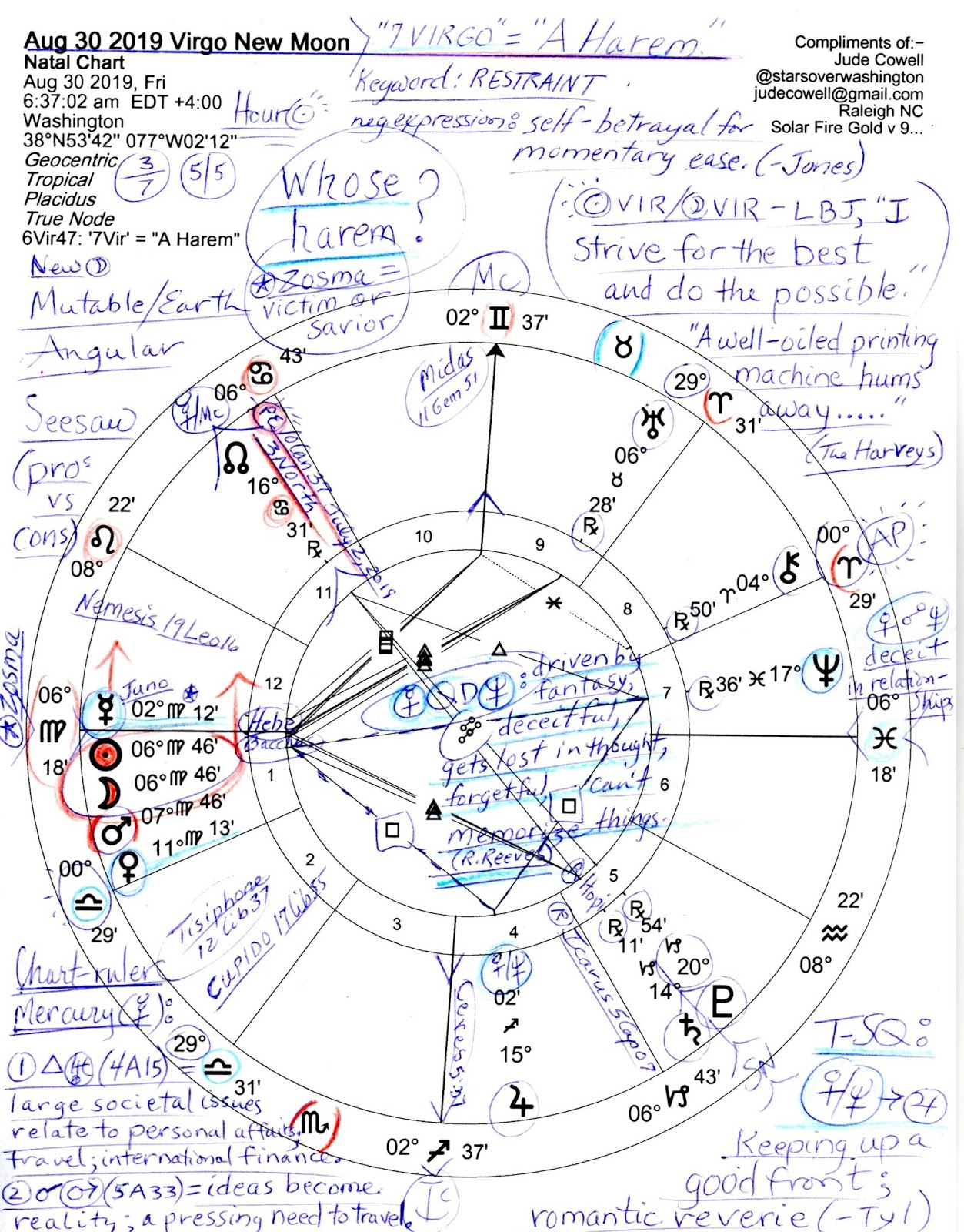 Stars Over Washington Dc Horoscope Aug 30 2019 Virgo New Moon