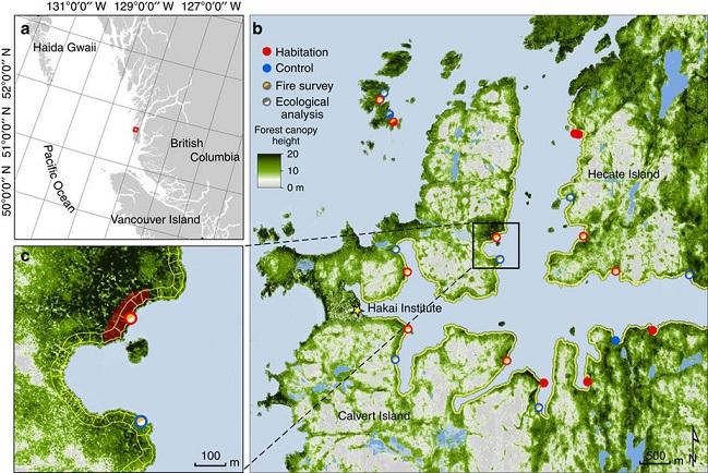 région du parc marin Hakai Lúxvbálís Conservancy et du détroit d'Hecate