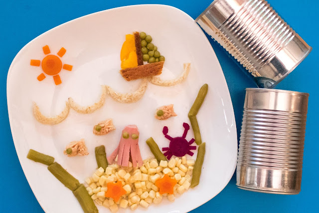 How to Make Ocean Food Art For Your Kids From Canned Food