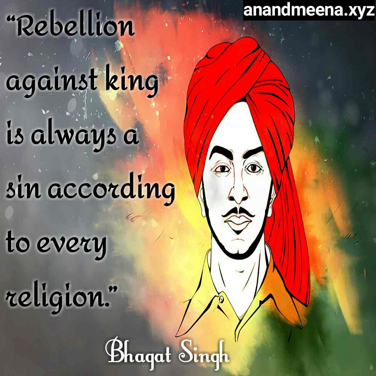 Bhagat Singh Birthday Bhagat Singh Quotes Inspirational Quotes