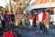 Peduli Kemanusiaan, HPMG Serahkab Donasi Ke Korban Kebakaran Di Pa'la'lakang Galesong