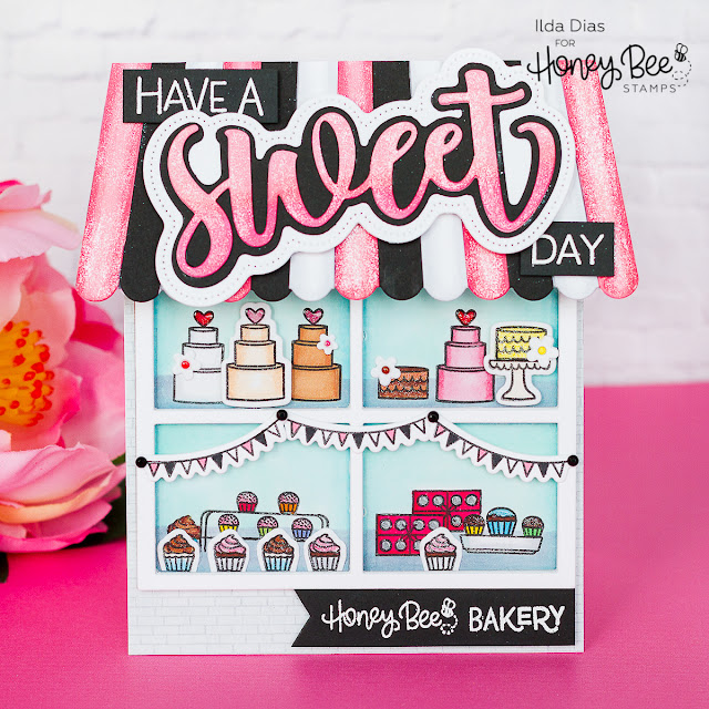 Have Sweet Day Bakery Scene Card | Honey Bee Stamps