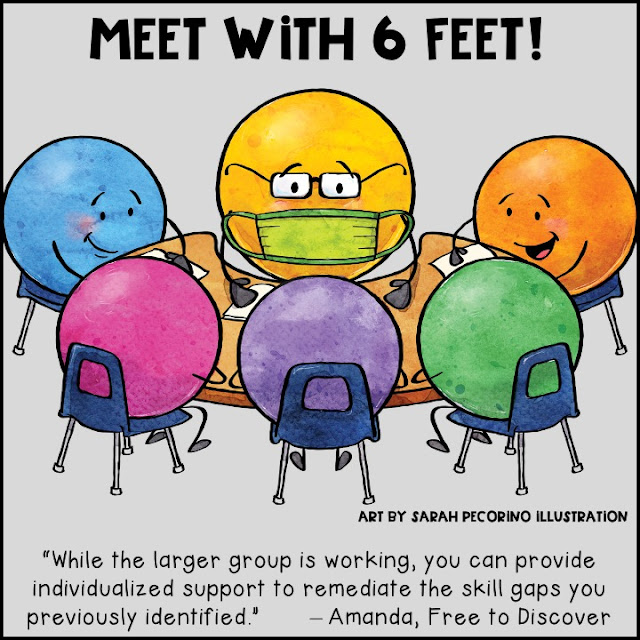 Teachers can still meet with small groups of students either remotely or while staying six feet apart.