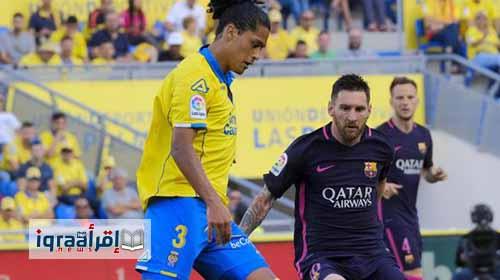 نتيجة مباراة برشلونة ولاس بالماس 4 / 1 اليوم الأحد 14-5-2017 فى الدوري الإسباني