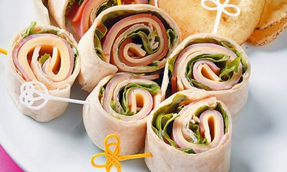 Wraps De Jamon Y Queso