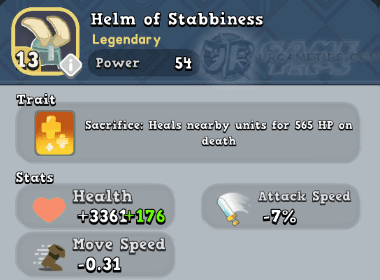 World of Legends Helm of Stabbiness