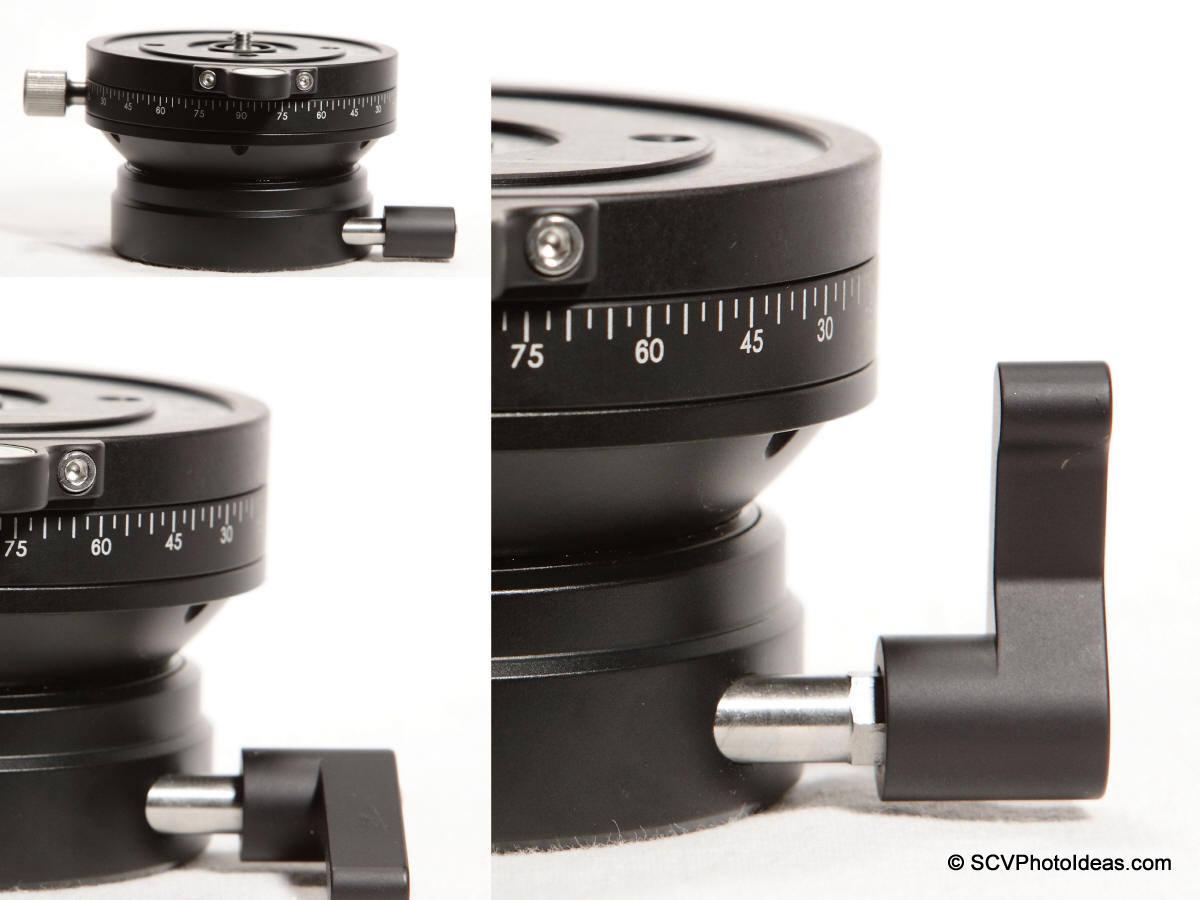 Sunwayfoto DYH-90R lever lock-knob positioning