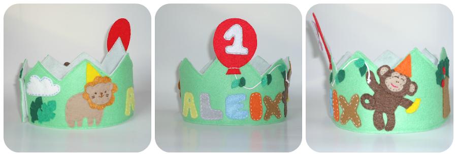 Birthday felt crown - Jungle