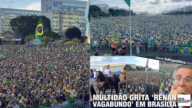 Uma gigantesca manifestação ocorreu neste sábado (dia 15) em Brasília, mas a  #GloboLixo mostrou imagens que não contém 100 pessoas - haja ódio