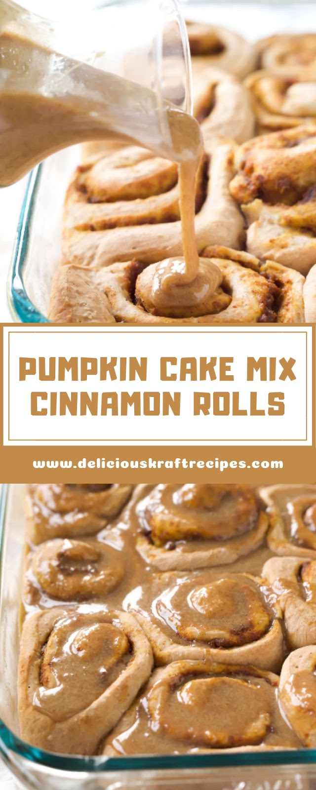 PUMPKIN CAKE MIX CINNAMON ROLLS