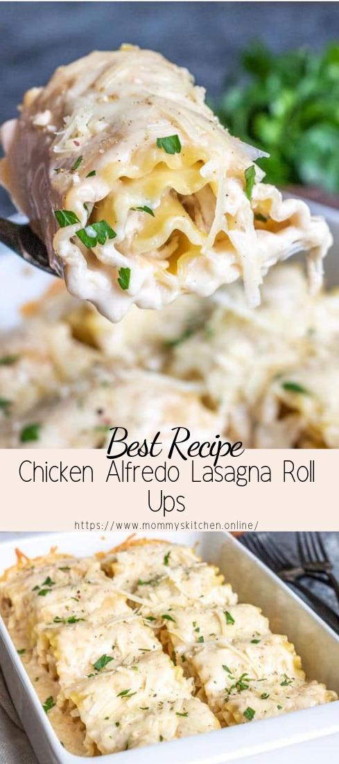 Chicken Alfredo Lasagna Roll Ups #dinnerrecipe #food #amazingrecipe