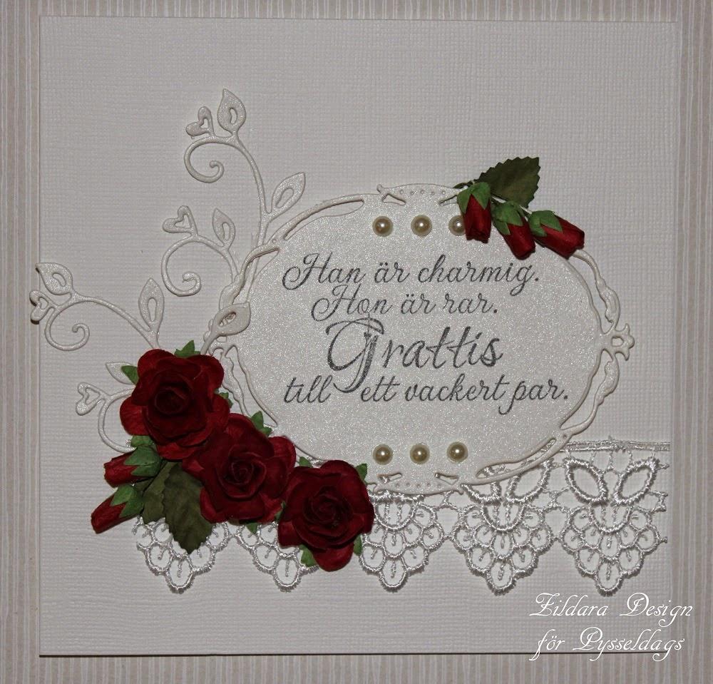 grattis bröllopskort Zildara design: Bröllopskort i vitt och rött grattis bröllopskort