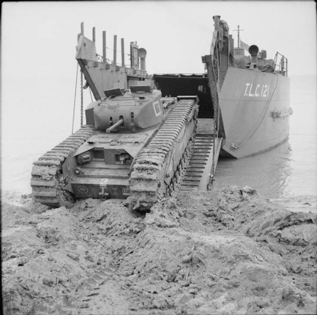 British landing exercises with a Churchill tank on 27 May 1942 worldwartwo.filminspector.com
