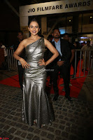 Rakul Preet Singh in Shining Glittering Golden Half Shoulder Gown at 64th Jio Filmfare Awards South ~  Exclusive 044.JPG