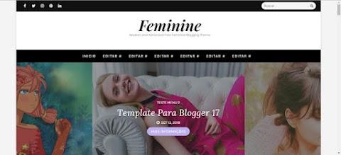 Feminine Blogger Template Responsivo