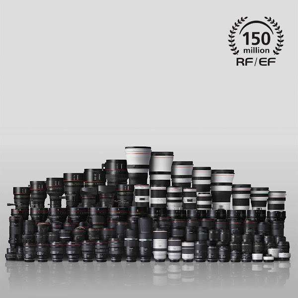 Canon celebra marco histórico com a produção de 150 milhões de objetivas intermutáveis RF e EF