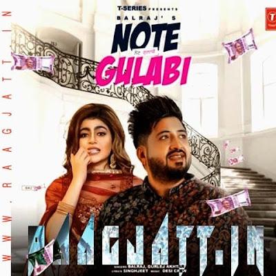 Note Gulabi by Balraj & Gurlez Akhtar lyrics
