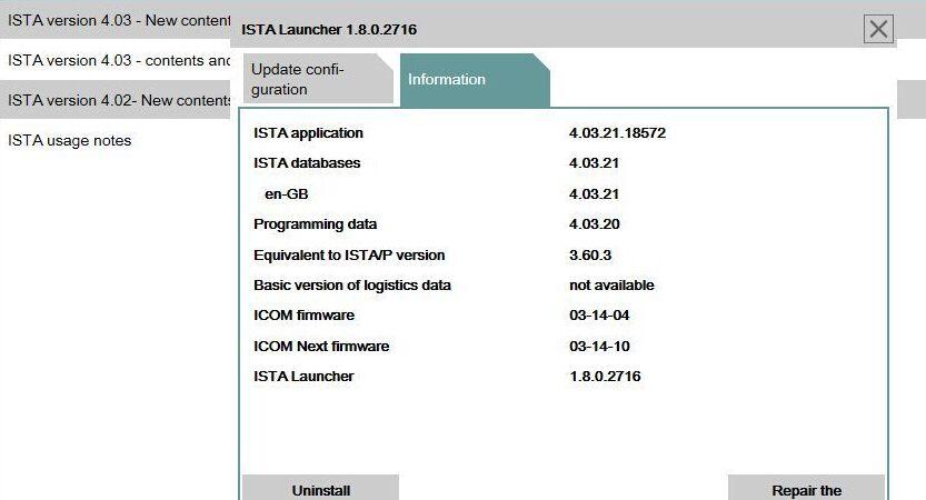 Free download BMW Rheingold ISTA 4 03 21 ISTA-D for BMW ICOM