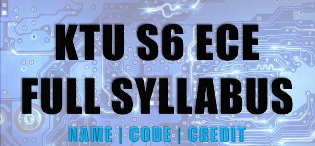 ECE S6 KTU