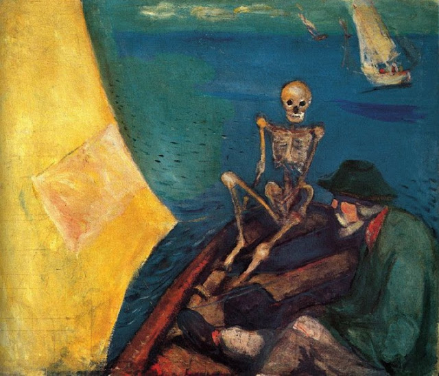 Edvard Munch: Døden ved roret - Death at the helm