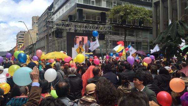 Marcha Patriótica celebra avances en proceso de paz colombiano