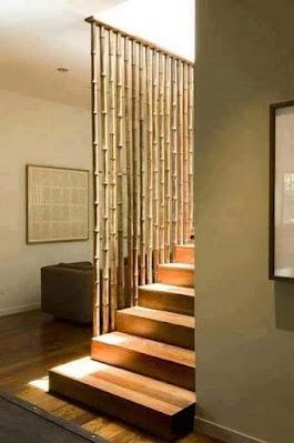 railing tangga kayu