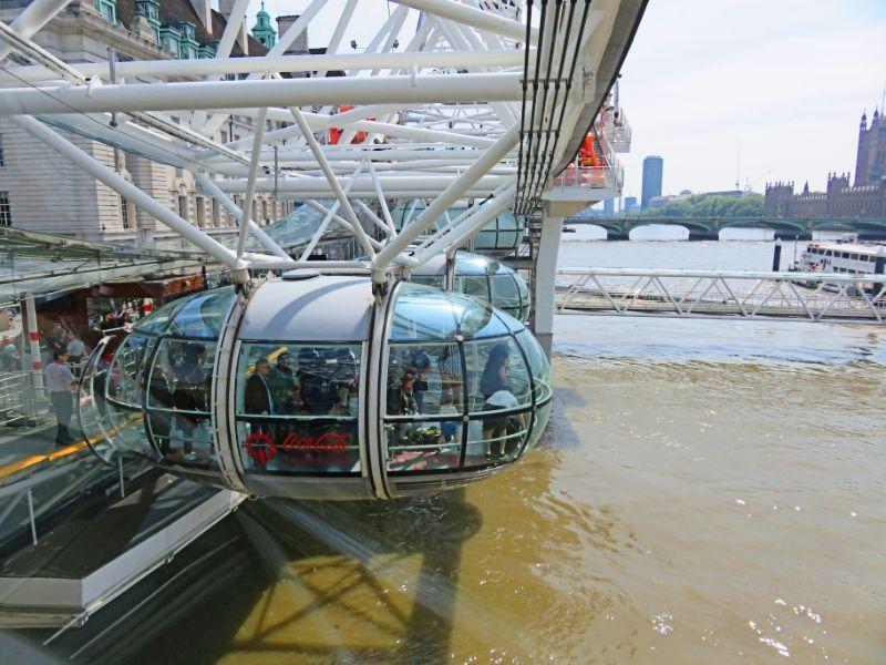 London Eye at the bottom