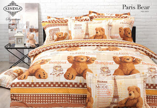 Sprei Kendra Signature Paris Bear