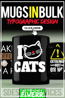 EYE-CATCHING cool and commercial to sell Mugs in bulk for your pod business - awesome typographic