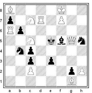 Problema de mate en 2 compuesto por Gérard Doukhan (1º Premio, Memorial Stosic 1979)