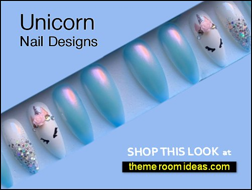 Unicorn nails unicorn nail designs false nails unicorn themed nails.