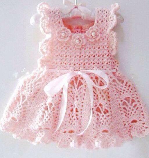 28 Hermosos Vestiditos para Niñas y Bebés Tejidos a Mano