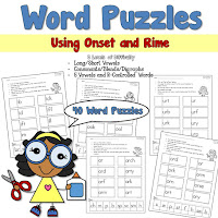 Work Puzzles using Onset and RIme