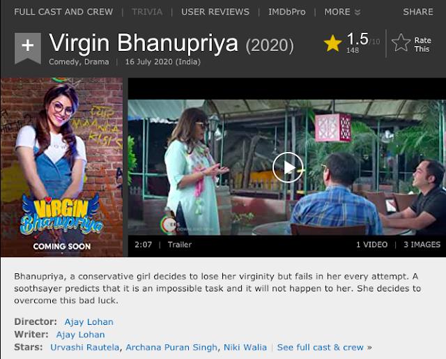 Download Virgin Bhanupriya (2020) Hindi Movie 480p | 720p | 1080p WEB-DL 350MB | 850MB