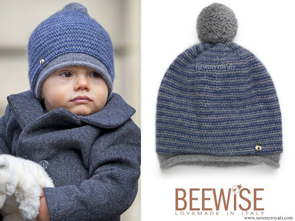 Princess Estelle and Prince Oscar wore Beewise hat