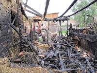 (ФОТО) Пожар в село Курьи ул. Красных Орлов