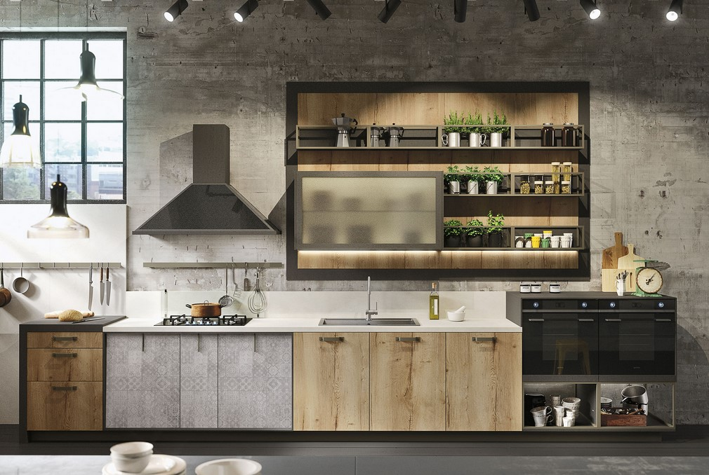 Super Loft by Snaidero: lo stile industriale reinventa la cucina IL93