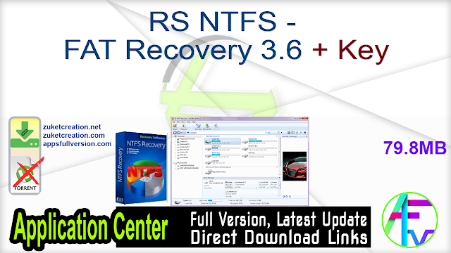RS NTFS – FAT Recovery 3.6 + Key